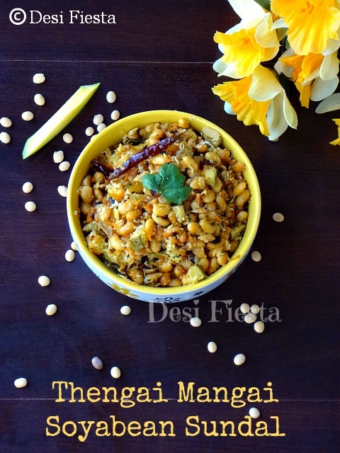 Thengai Mangai Soya bean Sundal