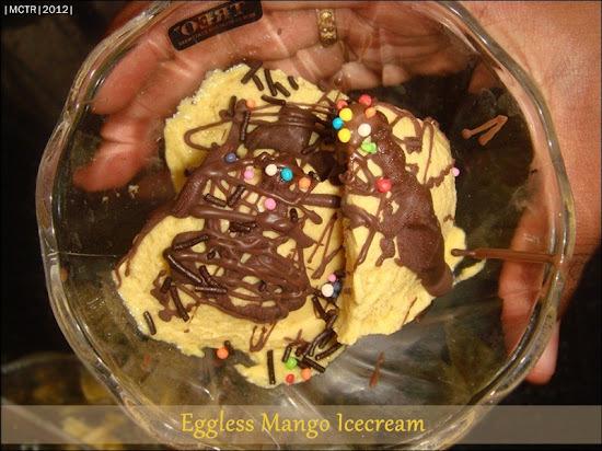 Mango Ice cream ~ Eggless Version