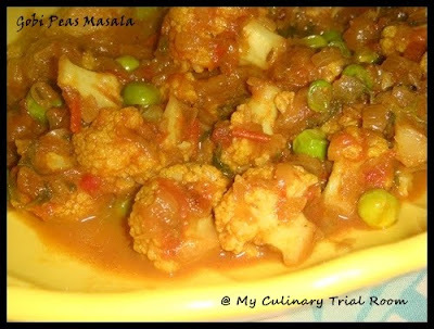 Gobi Peas Masala | Step by Step Recipe