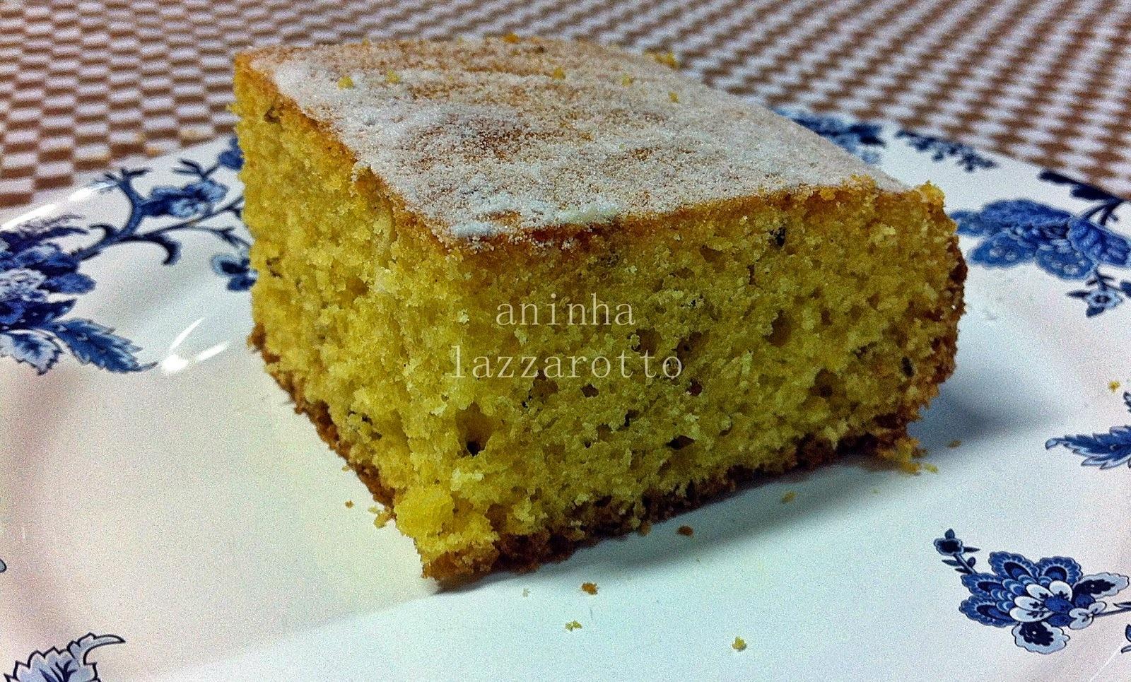 Um delicioso bolo de Fubá - e os diferentes tipos de farinha!