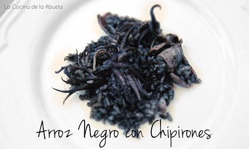Arroz Negro con Chipirones.