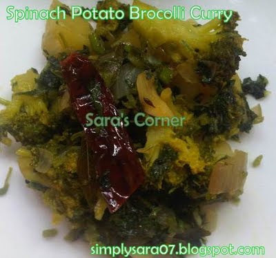 Spinach Potato Brocolli Curry