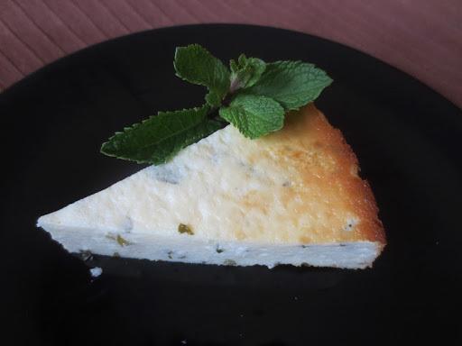 Pastís de formatge amb menta