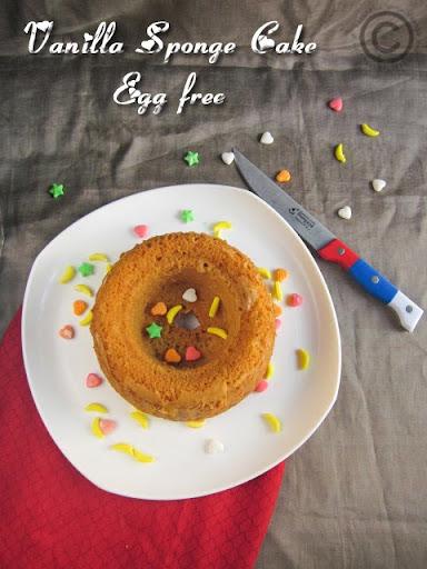 EGG LESS VANILLA SPONGE CAKE I BASIC VANILLA CAKE I VANILLA BUNDT CAKE