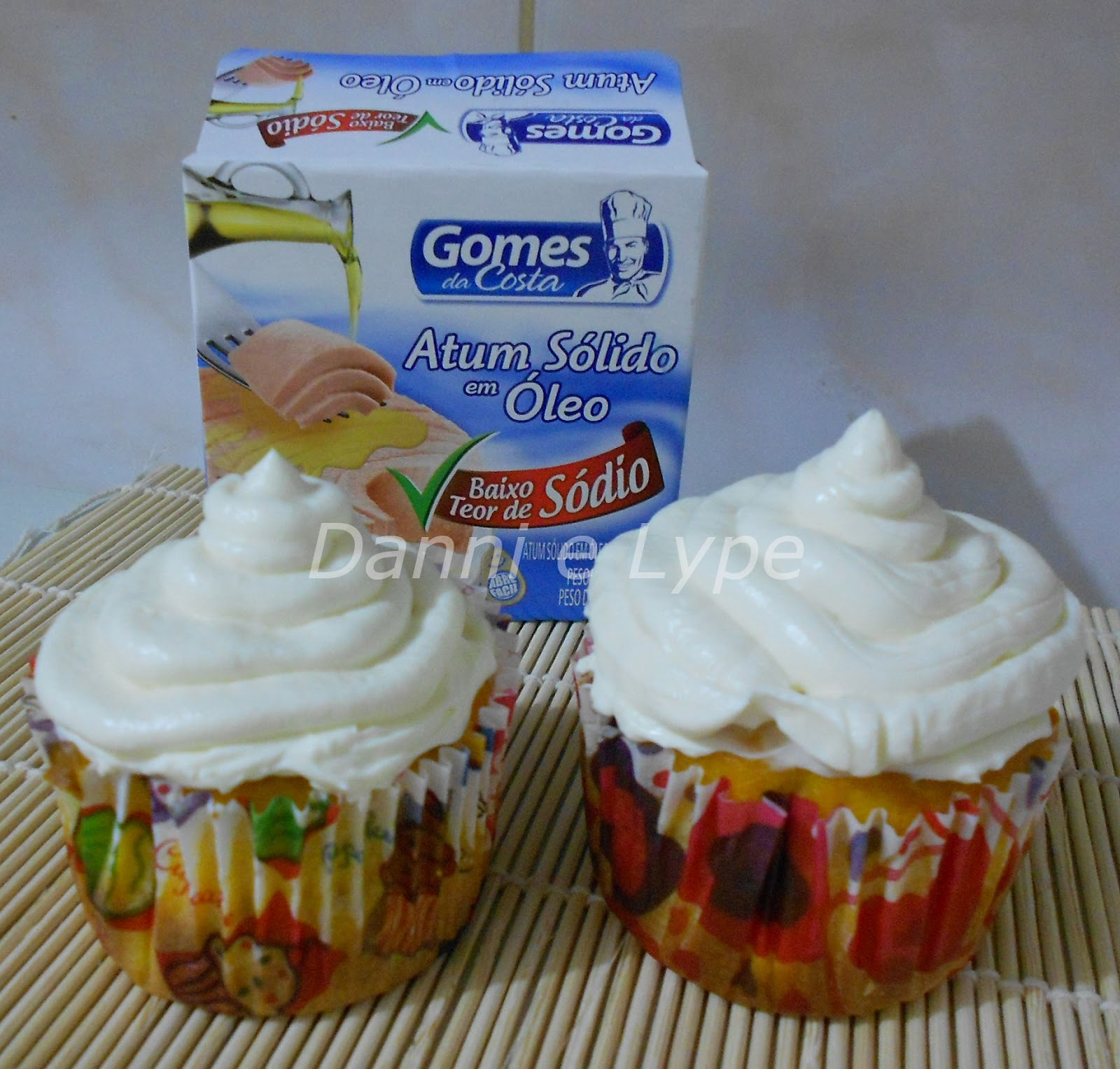 Cupcake Salgado de Cenoura com Atum