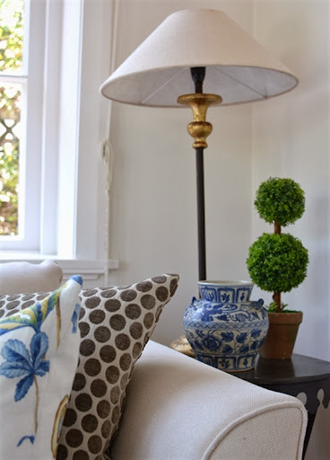 My Living Room - An Eclectic Mix of Blue &  White