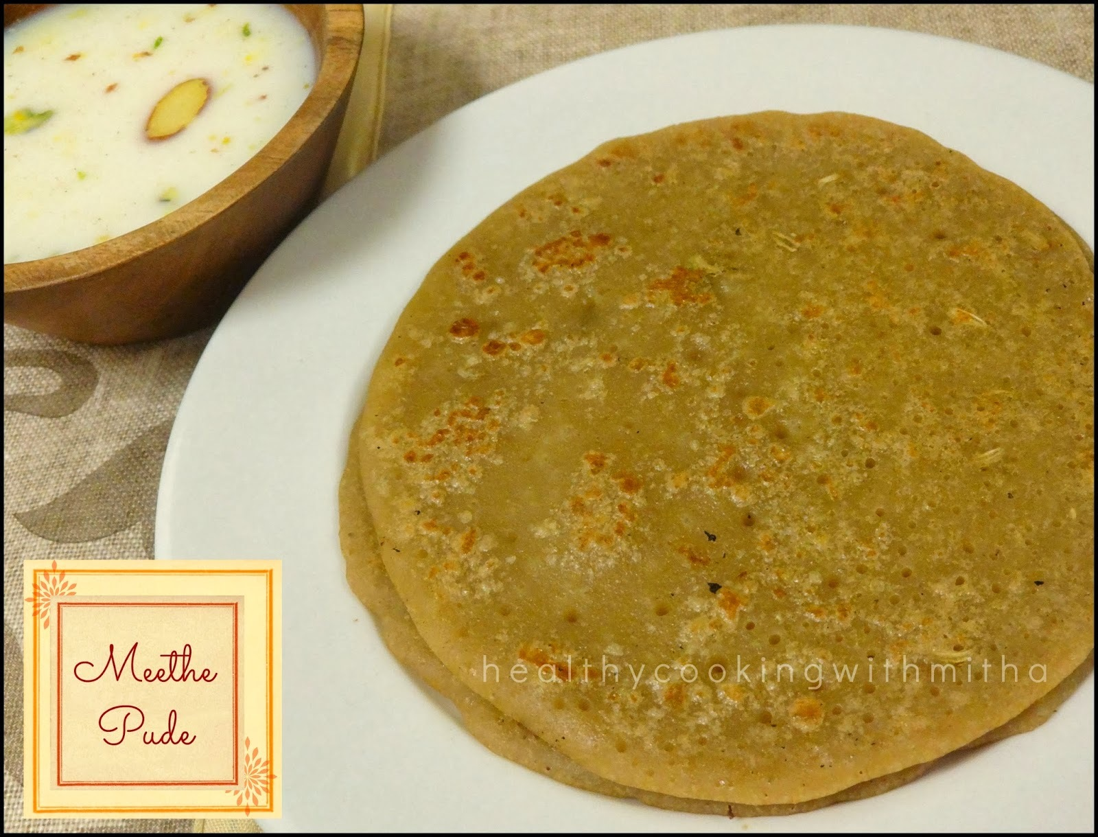 Haryanvi Meethe Pude | Sweet Pude | Jaggery Wheat Pancakes