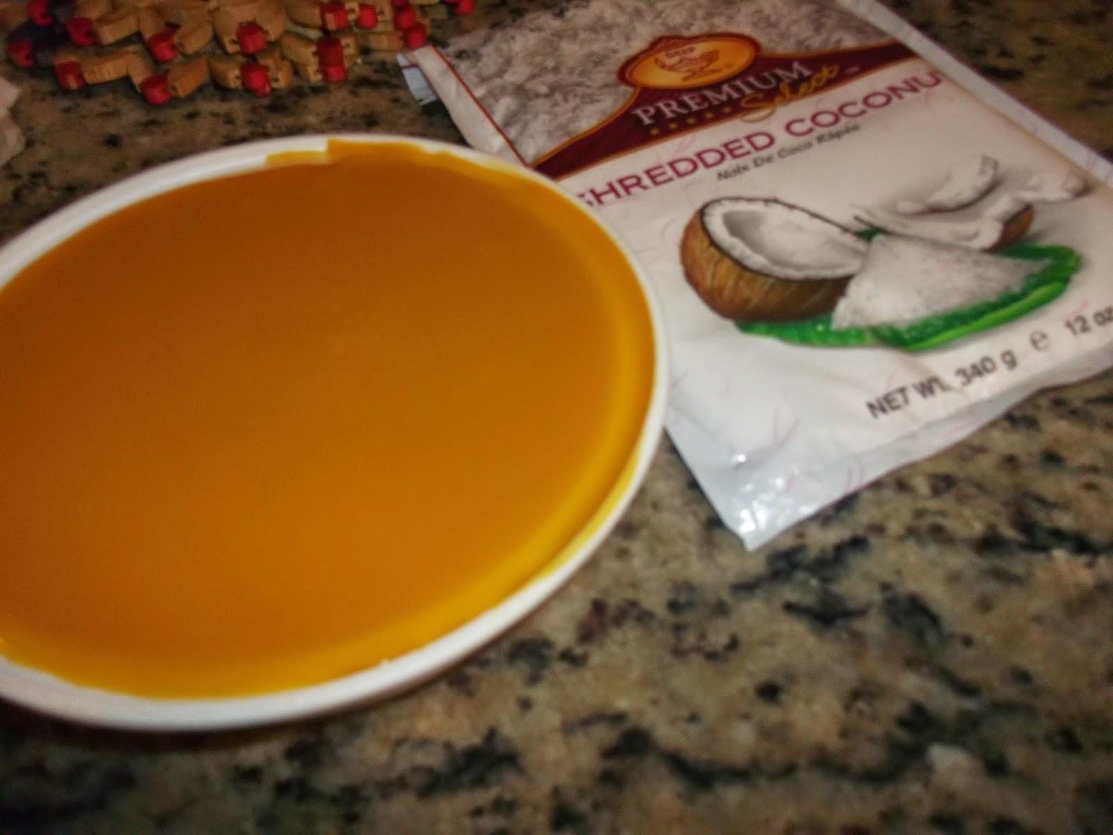 Mango Coconut Burfi  | Mango Coconut Fudge