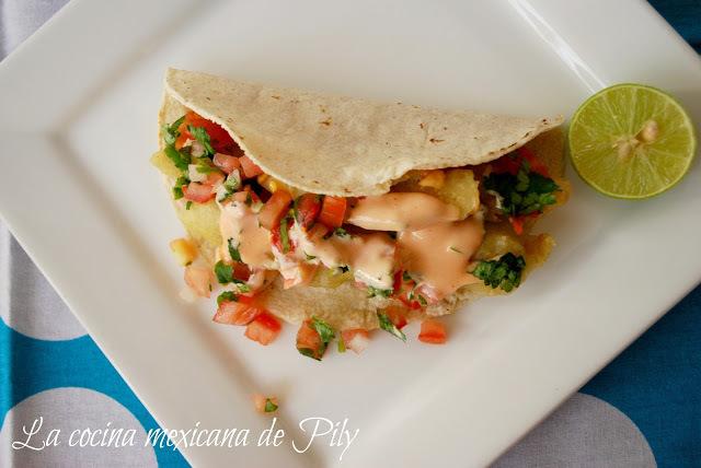 Tacos de pescado estilo Baja/ Tacos Baja