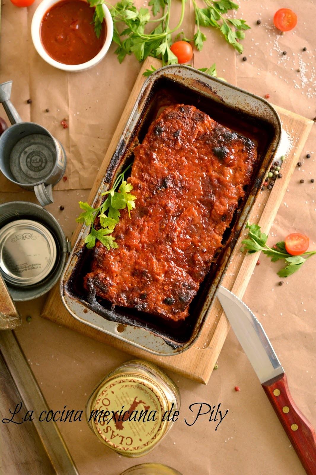 Pastel de Carne al Chipotle  - Chipotle Meatloaf