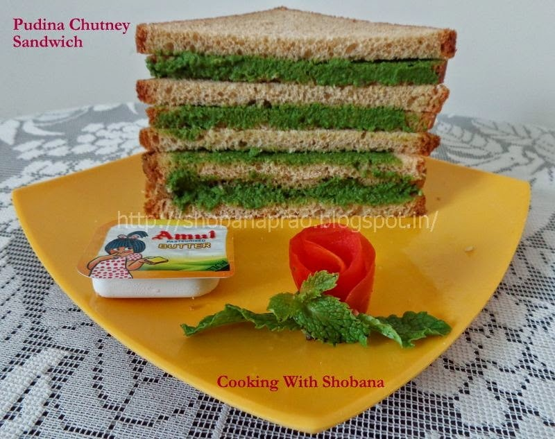 PUDINA CHUTNEY SANDWICH