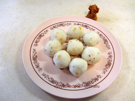 UNDRALLU   - VINAYAKA CHAVITHI RECIPES - Step by step Pictures - PIDI KOZHUKATTAI
