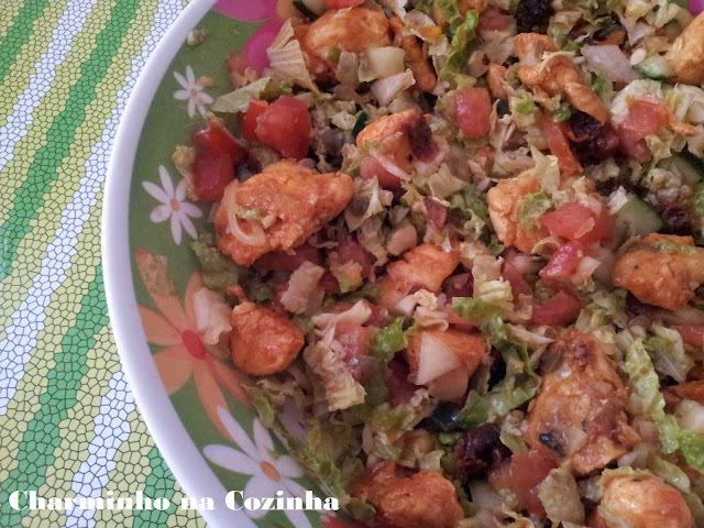 salada de acelga com frango