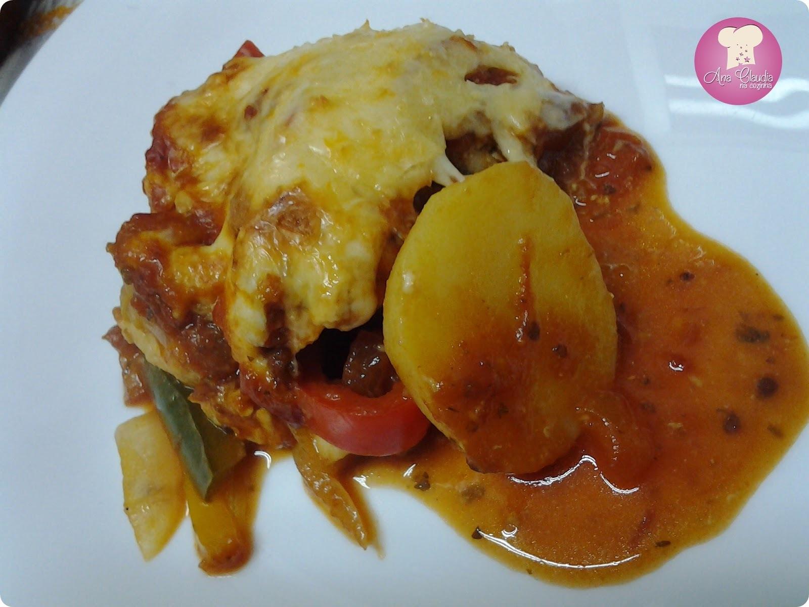 Frango Gratinado com Batatas sem Lactose