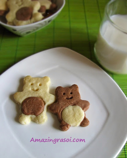 Eggless Teddy Cookies