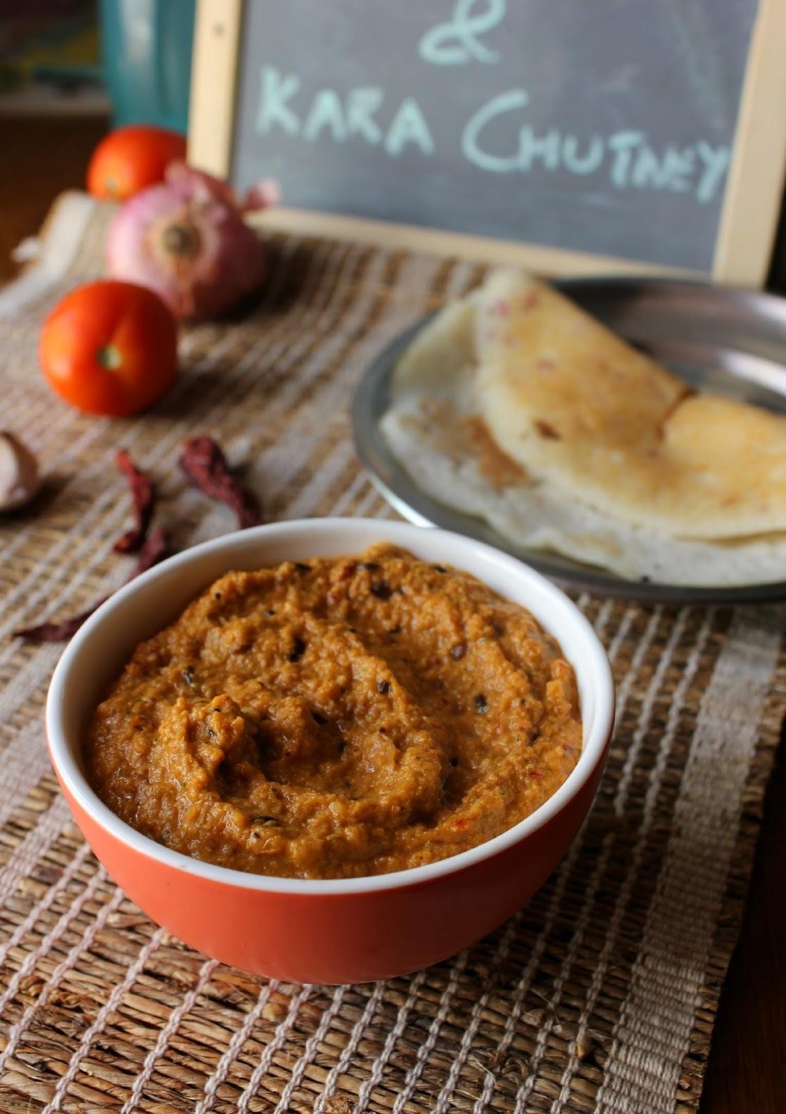 Kara Chutney | An Onion-Tomato coconut chutney