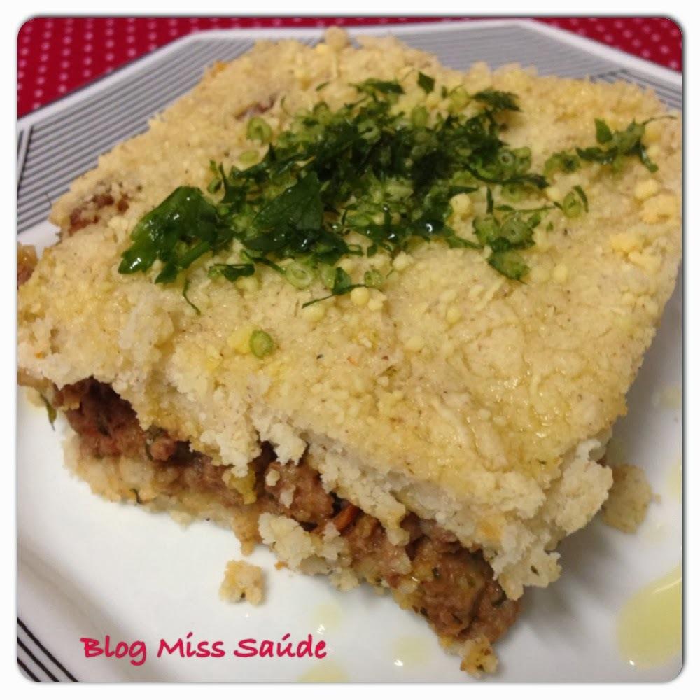 Torta de arroz integral de liquidificador - Free glúten