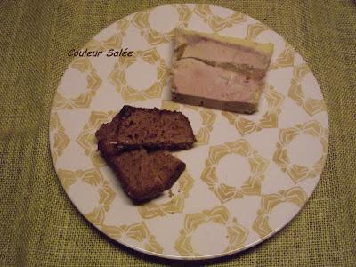 terrine de foie gras aux poires caramélisées