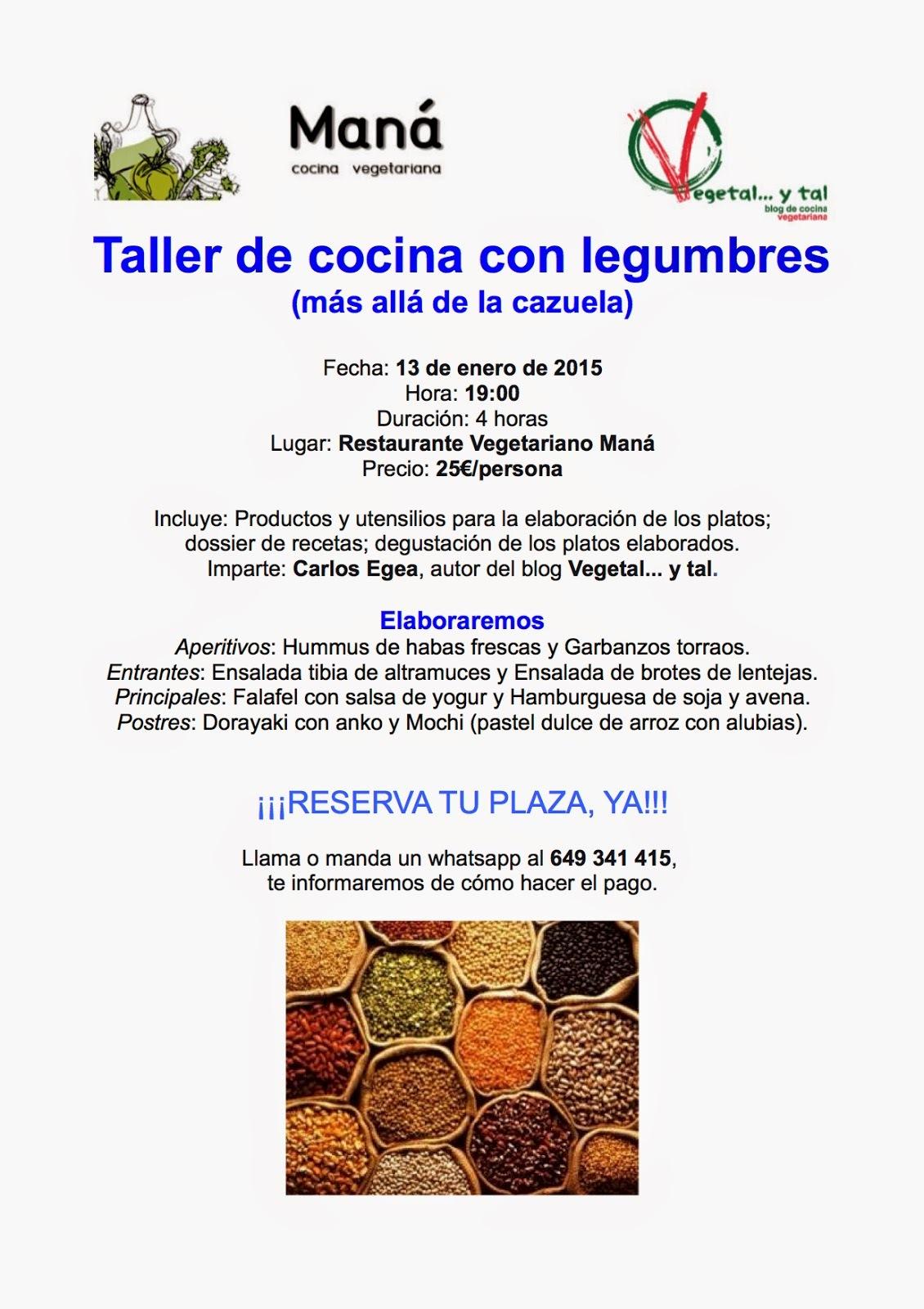Taller de Cocina con Legumbres en Restaurante Maná