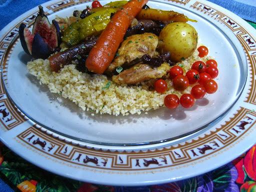 Tajine de poulet marocain à la pâte d'épices Le Coq noir