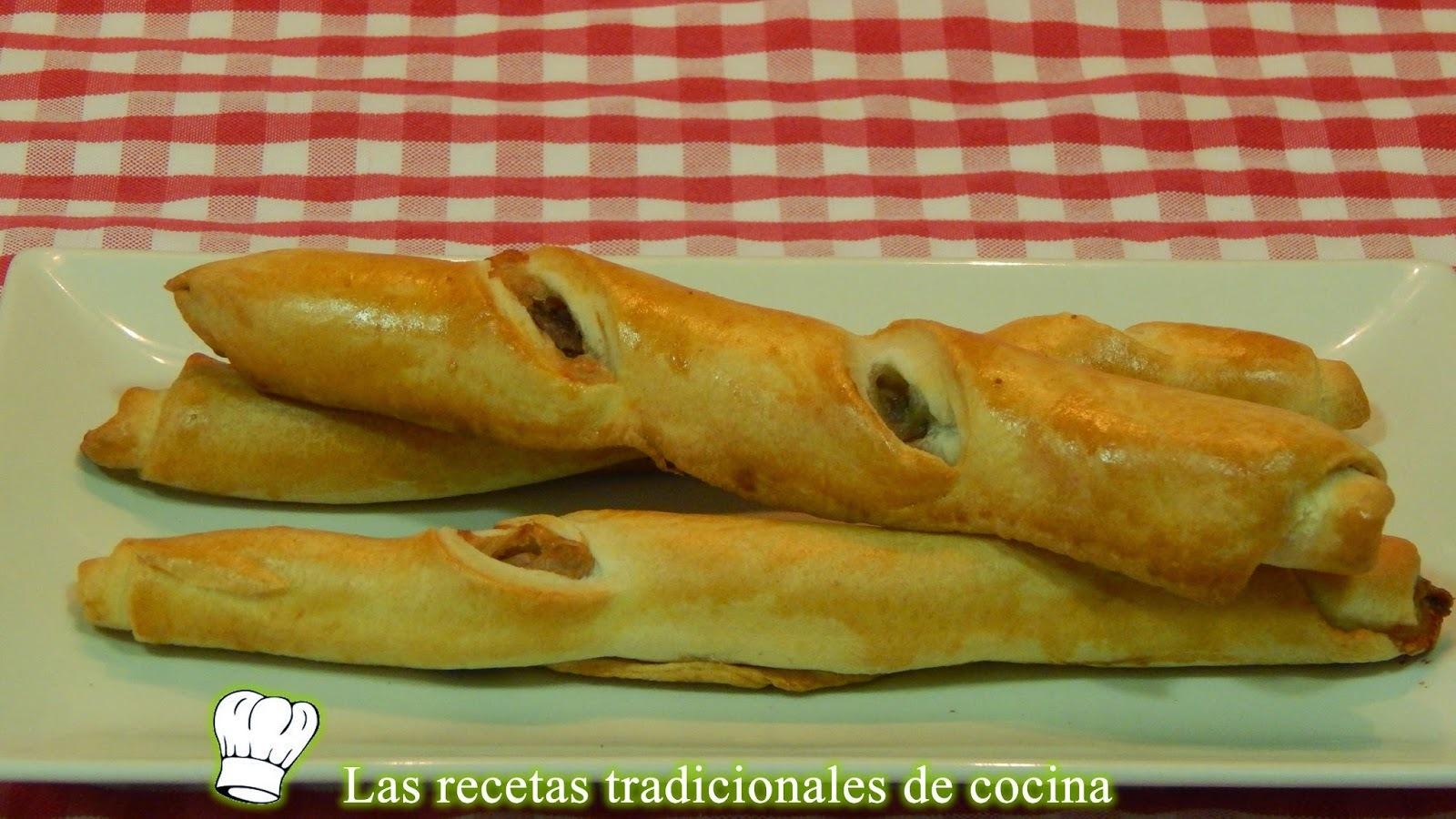 Receta de flautas o rosquilletas rellenas de anchoa