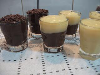 bicolor brigadeiro branco e brigadeiro de chocolate