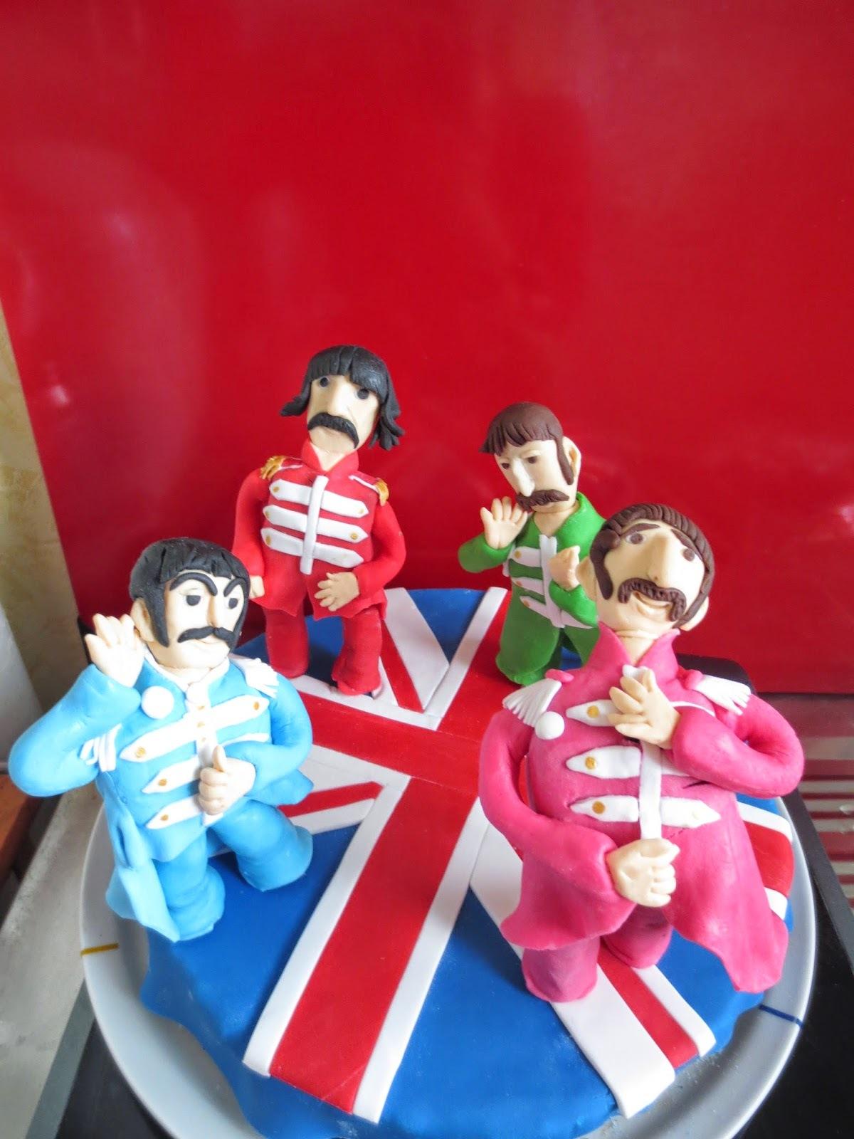 Gâteau pour un passionné de l'Angleterre et des Beatles (remontée d'une recette déjà publiée sur ce blog).