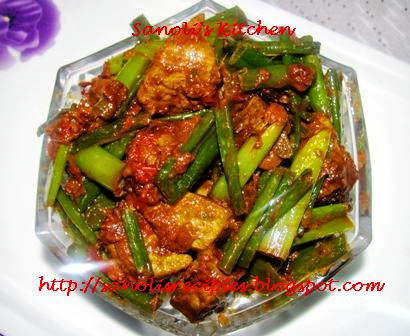 METE PEYAJKOLI (STIR-FRIED MUTTON LIVER WITH ONION GREENS)