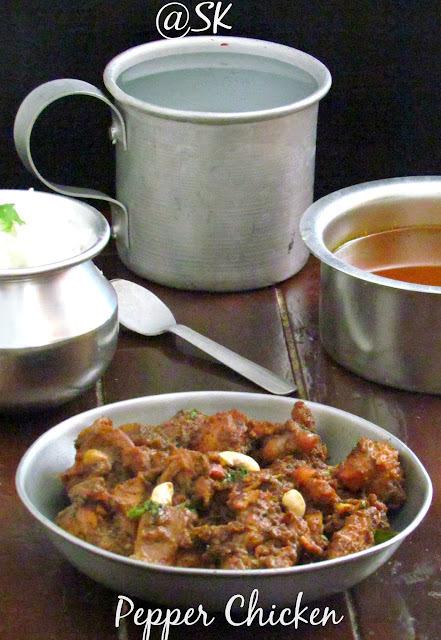 Chettinad Pepper Chicken - செட்டிநாடு மிளகு கோழி வறுவல் - Step by step - TST