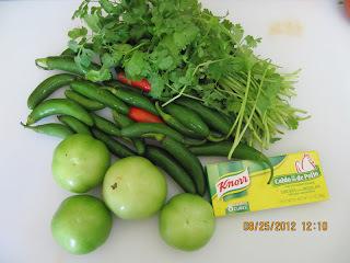 tacos de pollo con salsa verde