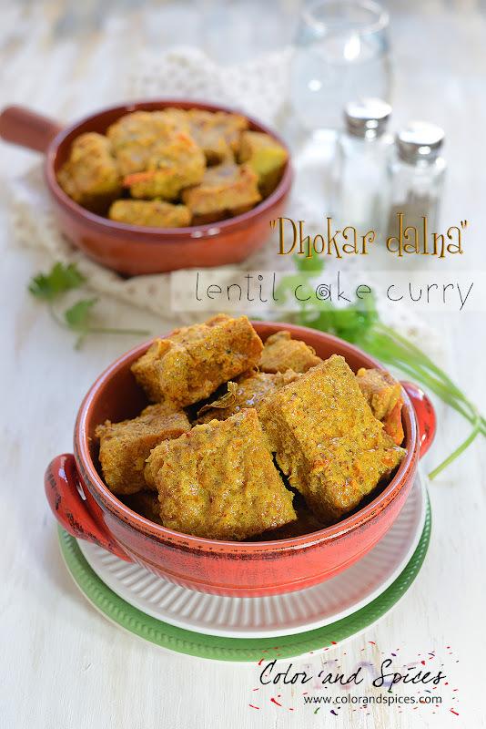 Dhokar dalna...lentil cake curry