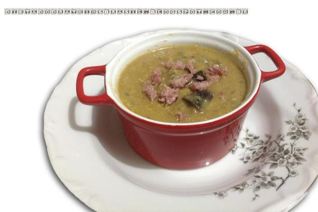 Sopa de Beringela com Linguiça: Totalmente Indução