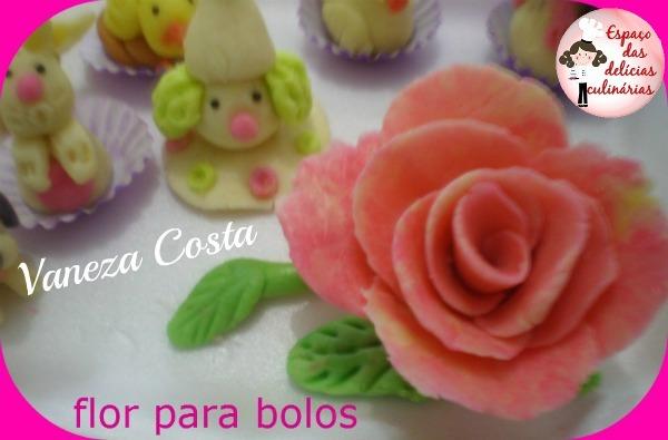 Flor para bolo e docinhos decorados