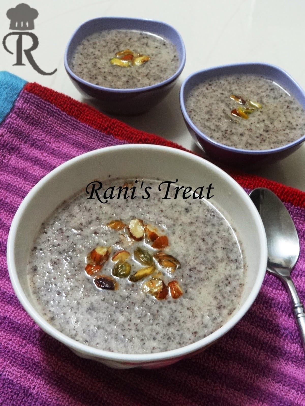 Finger Millet Flakes Kheer | Ragi Aval Payasam |Ragi Poha Kheer
