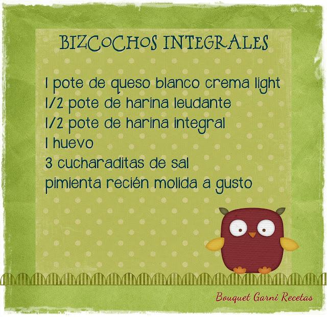 Bizcochos integrales
