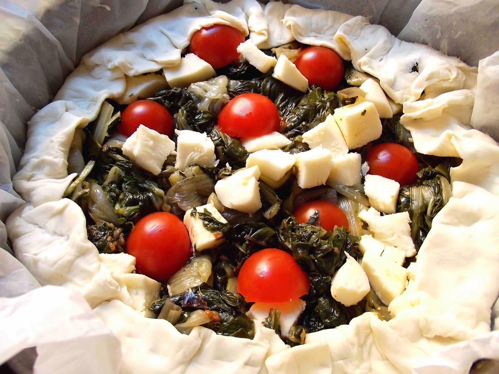 Rustica di Bieta Pomodori e Formaggio