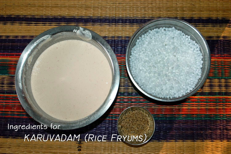 Karuvadam (Rice Fryums)