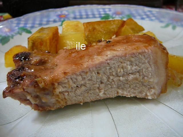 Cerdo glaceado