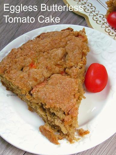 Eggless Butterless Tomato Cake / Healthy Tomato cake