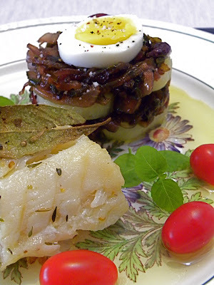 Bacalhau com Cebolas Caramelizadas