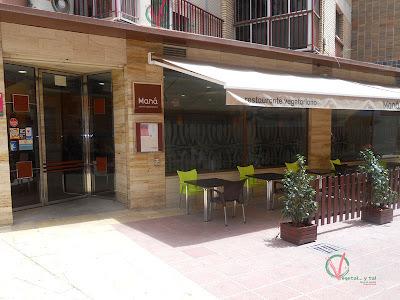 Restaurante vegetariano Maná en Murcia