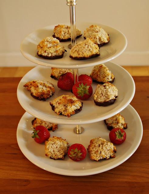 dessert med makroner
