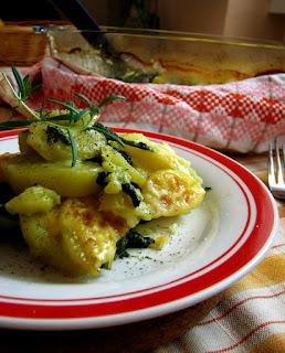 Zapekané zemiaky so špenátom