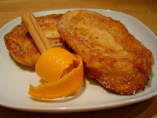 Torrijas de  Naranja Y Canela
