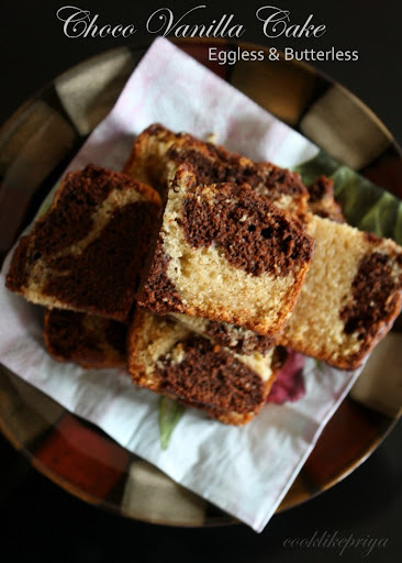 Eggless Chocolate Vanilla Cake   Eggless Marble Cake   Snack Cake