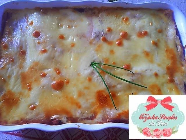 lasanha de queijo e presunto edu guedes
