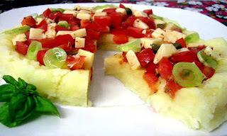 Pizza fria de patatas