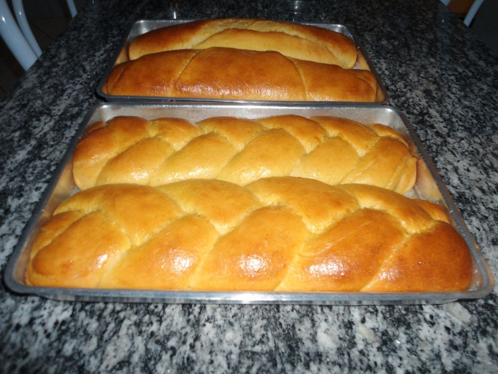Pão de milho com leite condensado