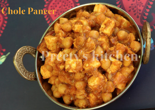Chole Paneer / Chickpeas & Indian Cottage Cheese Curry