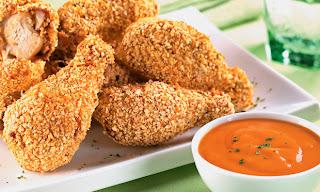 coxinha de frango frita crocante